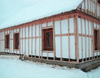 Утепление каркасного дома снаружи пенополистиролом